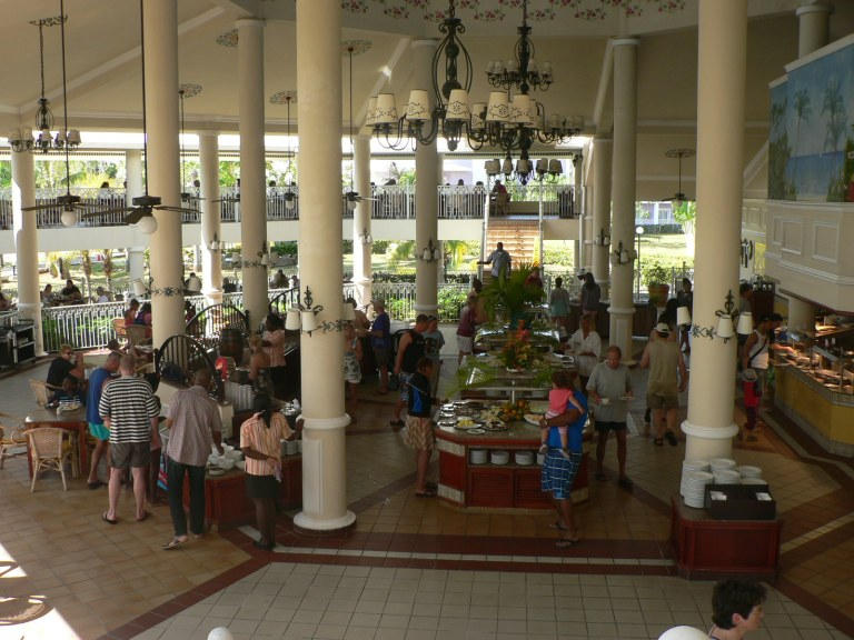 Open Air Buffet - One of the Hotel Riu Negril's lunch options