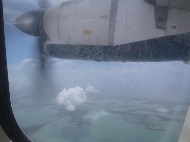 Flying over Key West via Regional Jet
