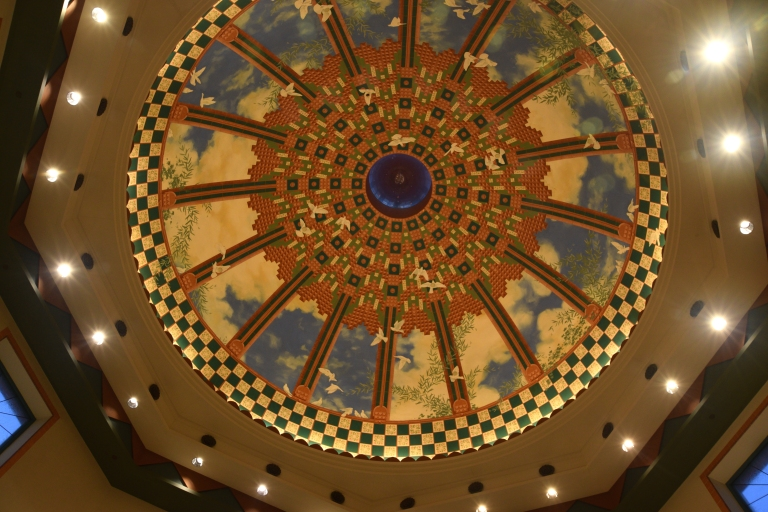 Details are everywhere at Disney's Coronado Springs Resort - Even in the ceiling of the Resort's Main Lobby