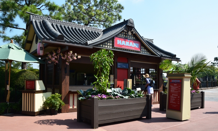 "Japan's Hanami kiosk features the Festival's famous ""Frushi"""
