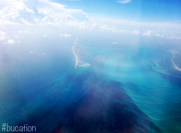 Isla Mujeres as we prepared to land in Cancun