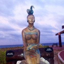 A sculpture dedicated to the Mayan Goddess Ixchel, Goddess of Moon, Fertility, Love and Medicine